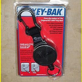 Key-Bak KB 6 C Anhänger mit automatischem Rücklauf Seil Kevlar 90 cm + Karabiner