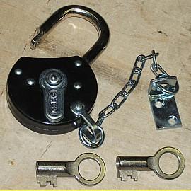 Abus Vorhängeschloss a la antik 60 mm - mit 10 cm Kette