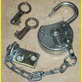 Foco verzinkt - Breite 40 mm mit Klappe und 12 cm Kette