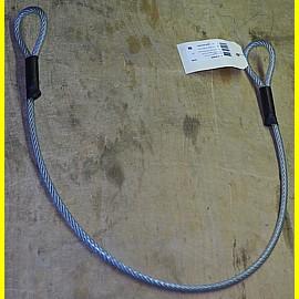 Kunststoffbeschichtetes Stahlseil 6 / 8 mm mit 2 Schlaufen - Länge 0,9 m